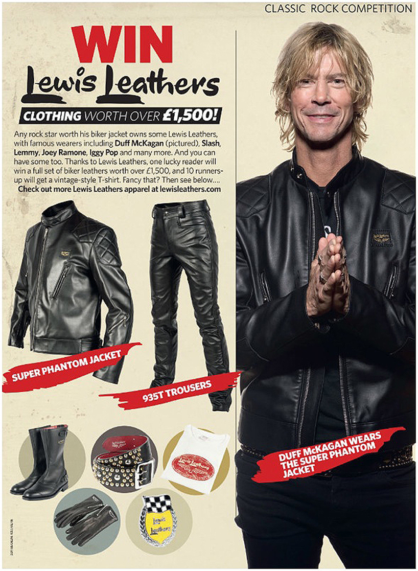 Duff McKagan, Lewis Leathers pic