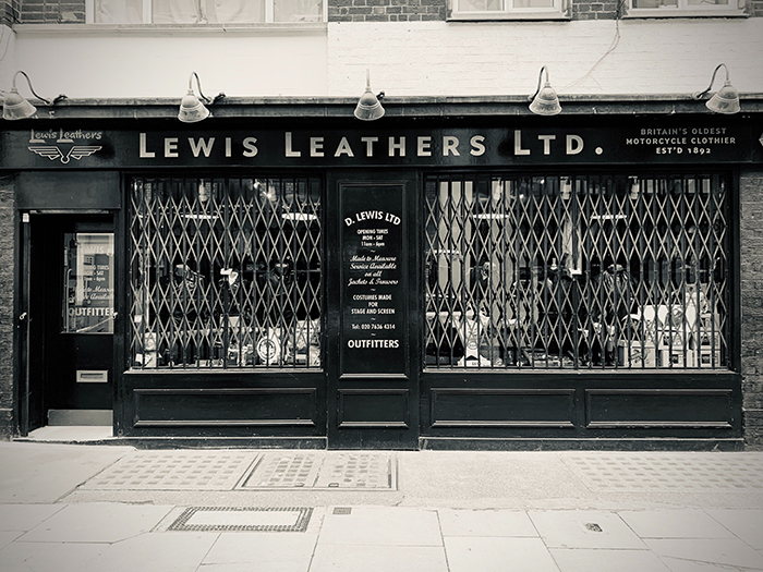 Lewis Leathers London Shop